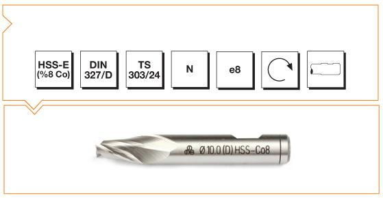 HSS-Co8 Din 327-D Slot Cutters