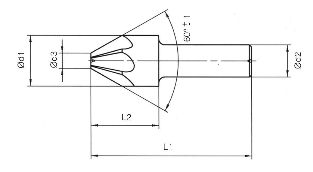 HSS Din 334/A Countersinks - 60°