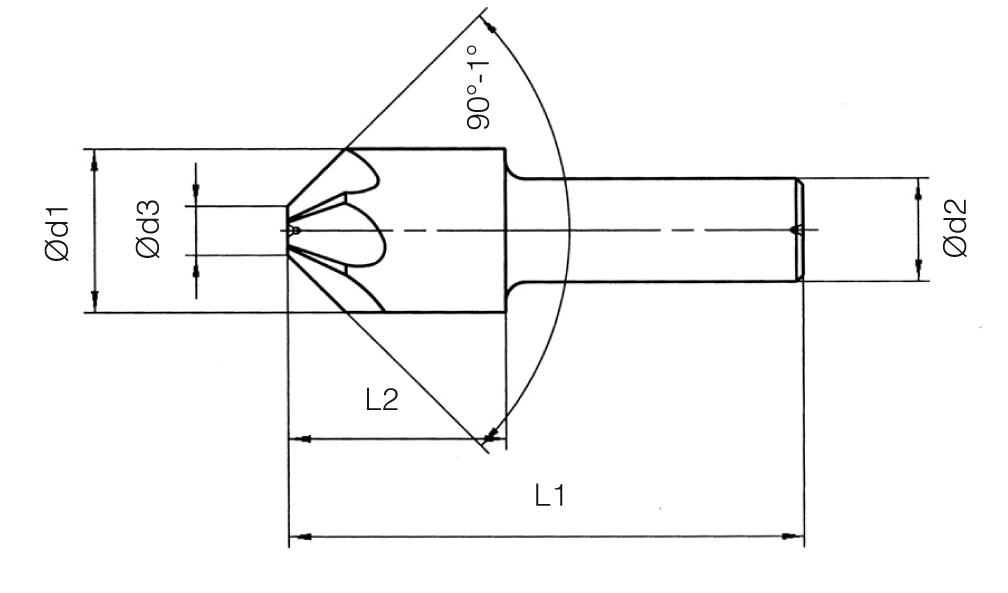 HSS Din 335/A Countersinks - 90°