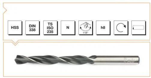 HSS Din 338 Straight Shank Twist Drills - Roll Forged