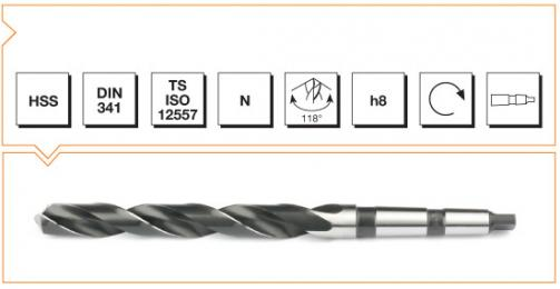 HSS Din 341 Morse Taper Twist Drills - Long Series