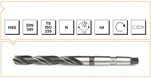 HSS Din 345 Morse Taper Twist Drills