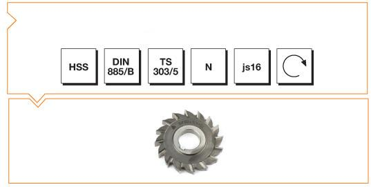 HSS Din 885-B Side & Face Cutters - Straight Teeth