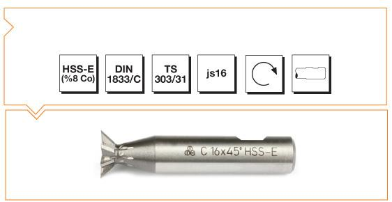 HSS-E Din 1833-C Dovetail Cutters