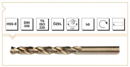 HSS-E Din 338 Straight Shank Twist Drills - Gold Series