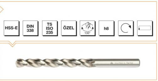 HSS-E Din 338 Straight Shank Twist Drills - Silver Series
