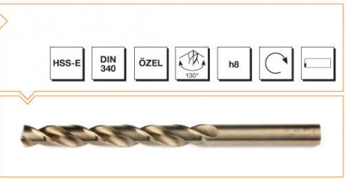HSS-E Din 340 Straight Shank Long Twist Drills - Gold Series