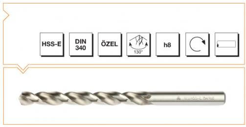 HSS-E Din 340 Straight Shank Long Twist Drills - Silver Series