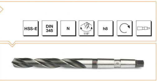 HSS-E Din 345 Morse Taper Twist Drills