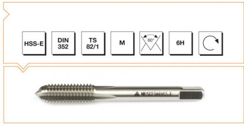 HSS-E Din 352 Machine Taps - Short - Metric Thread