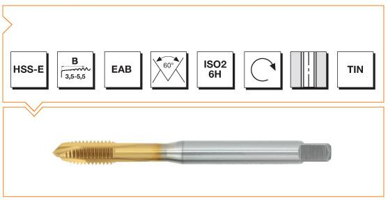 HSS-E Din 371 376 Machine Taps Spiral Point - Steel