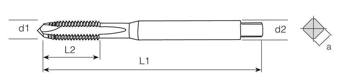 HSS-E Din 371 376 Machine Taps Straight Flute UNF - Al