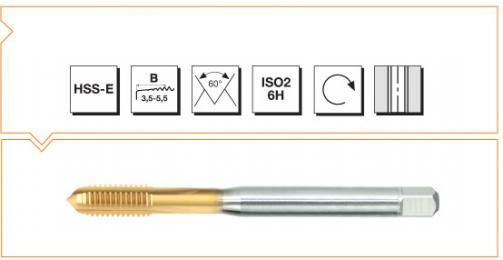 HSS-E Din 371/376 Machine Taps Straight Flute - Whitworth - TiN