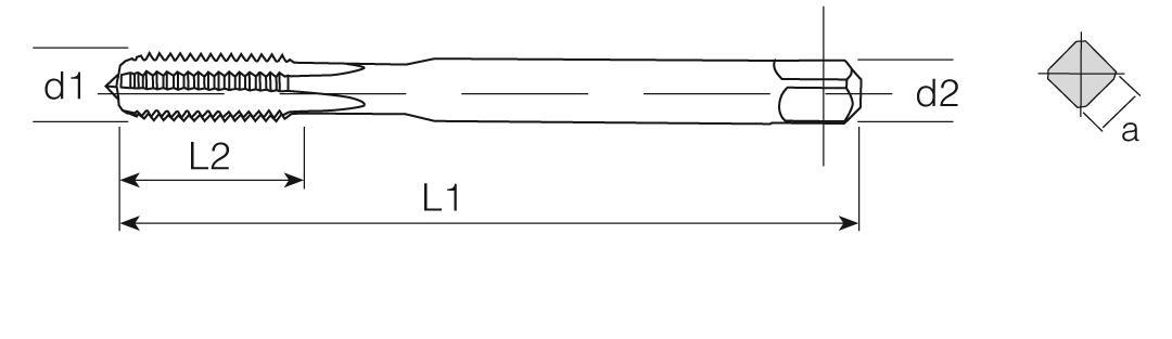 HSS-E Din 376 Machine Taps Straight Flute - Cu