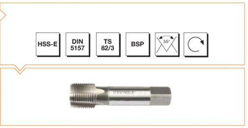 HSS-E Din 5157 Machine Taps - Short Whitworth Pipe Thread
