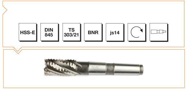 HSS-E Din 845 B-NR Morse Taper End Mills - Short