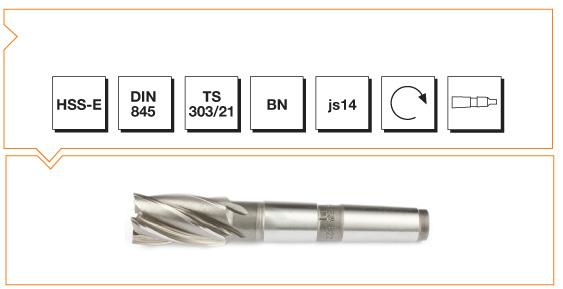 HSS-E Din 845 BN Morse Taper End Mills - Short