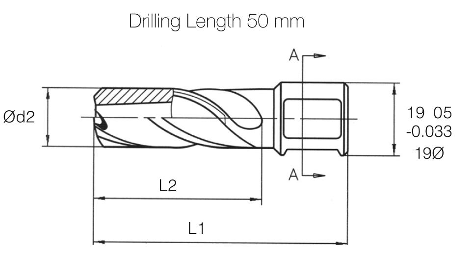 HSS MTE Norm Core Drill - Long