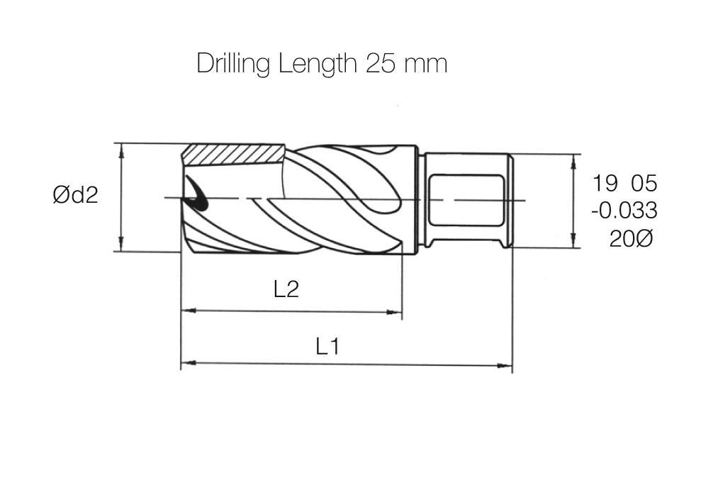 HSS MTE Norm Core Drill - Short