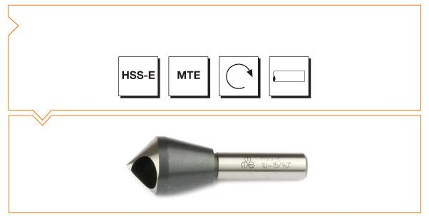 HSS MTE Norm Cross Hole Countersinks