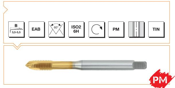 PM Din 376 Machine Taps Spiral Point - Steel