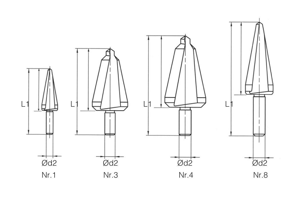HSS MTE Norm Taper Sheet Drill