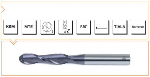 VHM MTE Norm Ball Nose End Mills 2 Flutes