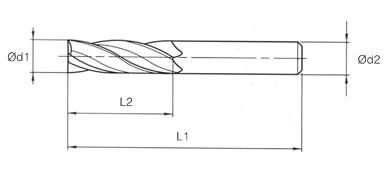 VHM MTE Norm End Mills 4 Flutes - Short