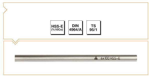 HSS-Co10 Din 4964/A Cylindirical (Round) Tool Bits