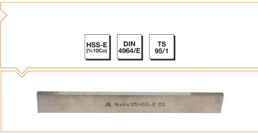 HSS-Co10 Din 4964/E Trapezoidal Tool Bits - Metric