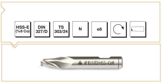 HSS-Co8 Din 327-D Slot Cutters