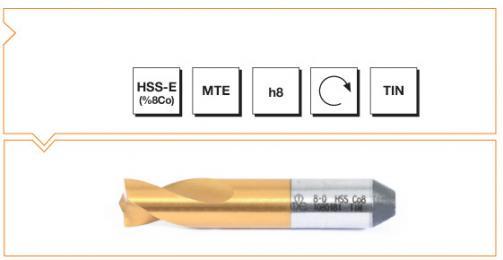 HSS-Co8 MTE Norm Spot Weld Drills - Short (SpotleVario Drills) - TiN