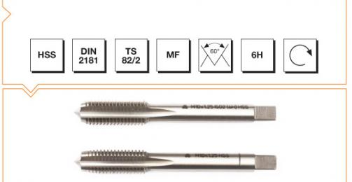 HSS Din 2181 Hand Taps (In Sets of 2) - Metric Fine Thread