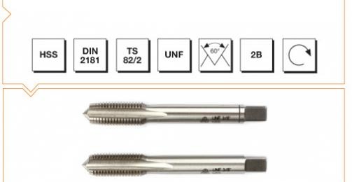 HSS Din 2181 Hand Taps (In Sets of 2) - UNF