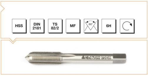 HSS Din 2181 Machine Taps - Short - Metric Fine Thread