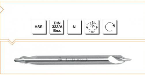 HSS Din 333A Center Drills - Long