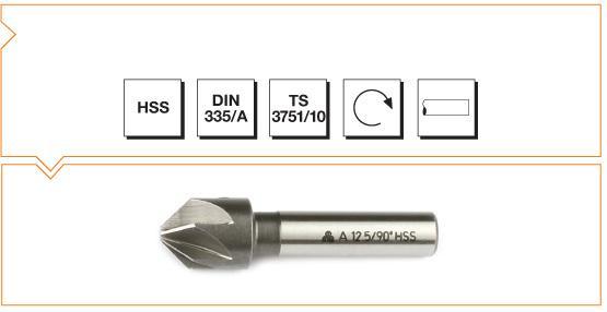 HSS Din 335/A Countersinks - 90°