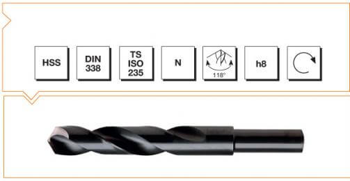 HSS Din 338 Reduced Shank Twist Drills