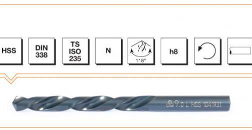 HSS Din 338 Straight Shank Left Hand Twist Drills - Fully Ground