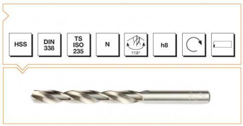 HSS Din 338 Straight Shank Twist Drills - Fully Ground