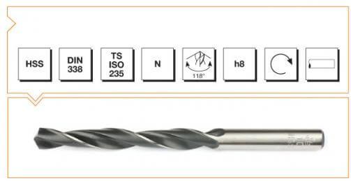 HSS Din 338 Straight Shank Twist Drills - Roll Forged
