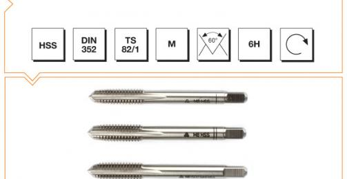 HSS Din 352 Hand Taps (In Sets of 3) - Metric Thread
