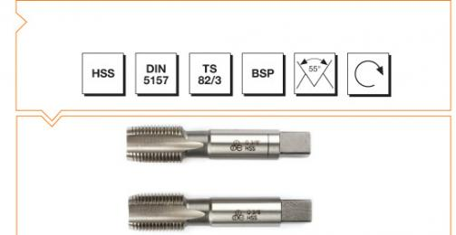 HSS Din 5157 Hand Taps (In Sets of 2) - Whitworth