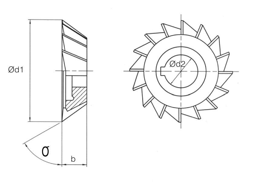 HSS Din 842 Angular Cutters
