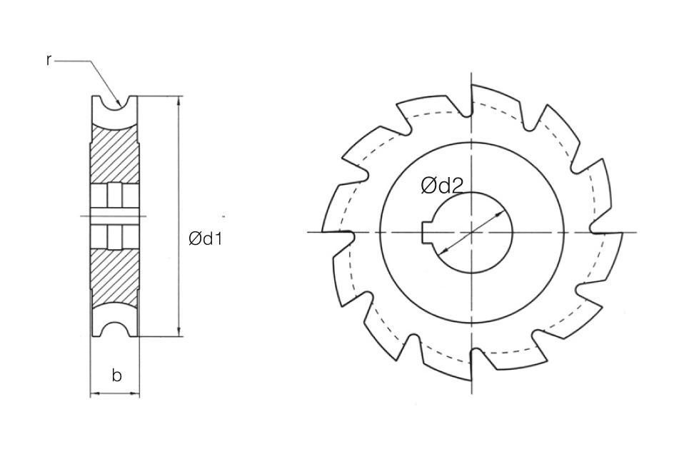 HSS Din 855 Concave Radius Cutters