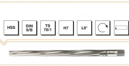 HSS Din 9 1/50 Taper Reamer