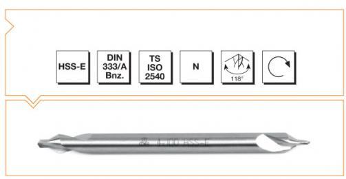 HSS-E Din 333/A Center Drills - Long
