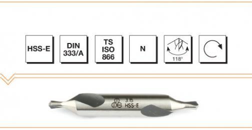 HSS-E Din 333A Center Drills
