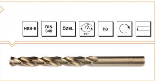 HSS-E Din 340 Straight Shank Long Twist Drills - Gold Series