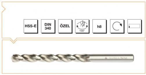 HSS-E Din 340 Straight Shank Long Twist Drills - Silver Series